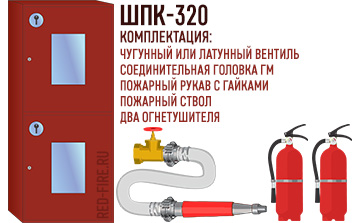 Комплектация пожарного шкафа ШПК-320