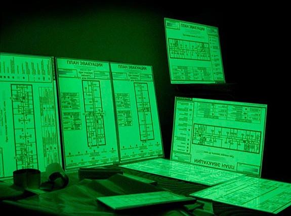 План эвакуации на фотолюминисцентном материале
