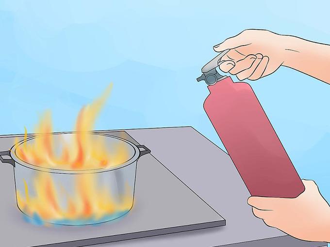 Действия при возгорании масла